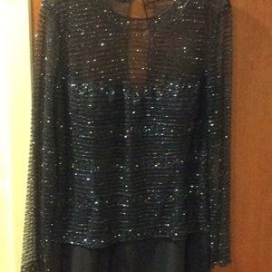vintage jouani  Beaded long sleeve gown